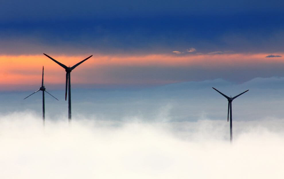 Power generation and transformation (wind turbine)